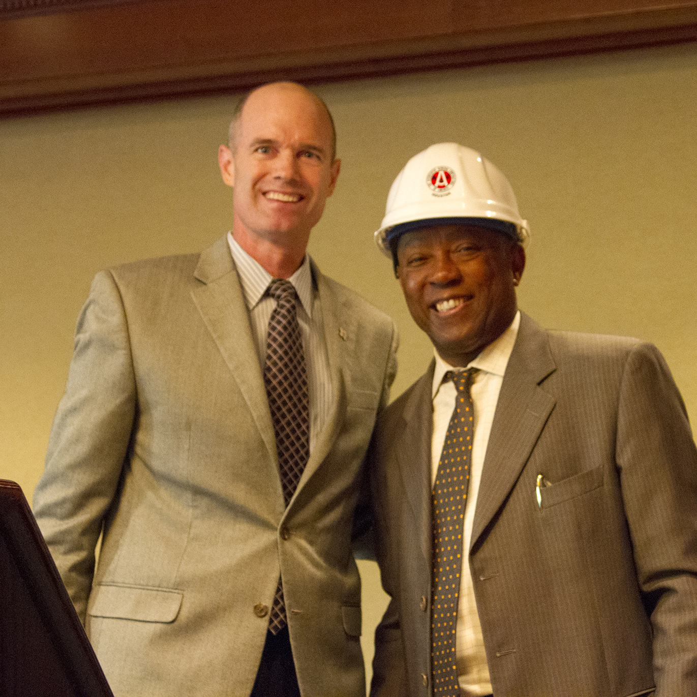 Jeremy Stovall with Houston Mayor Sylvester Turner